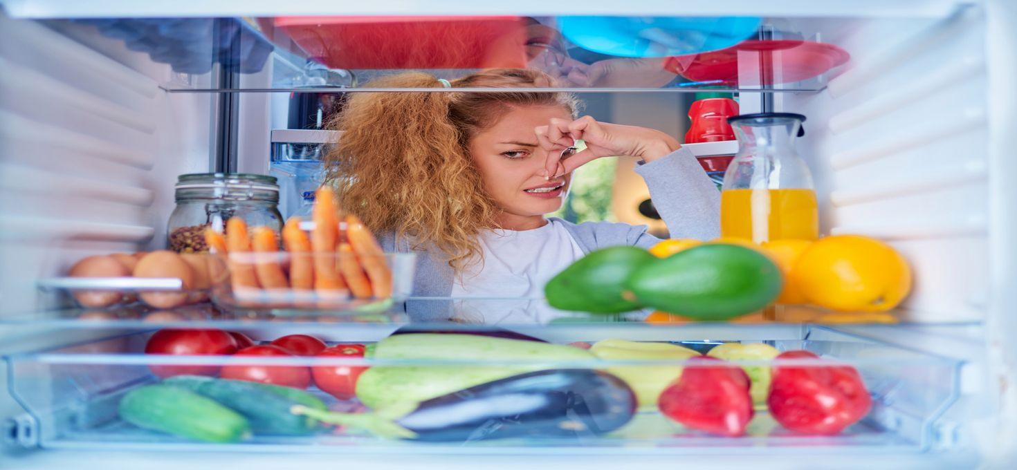 Удаляем запах из холодильника