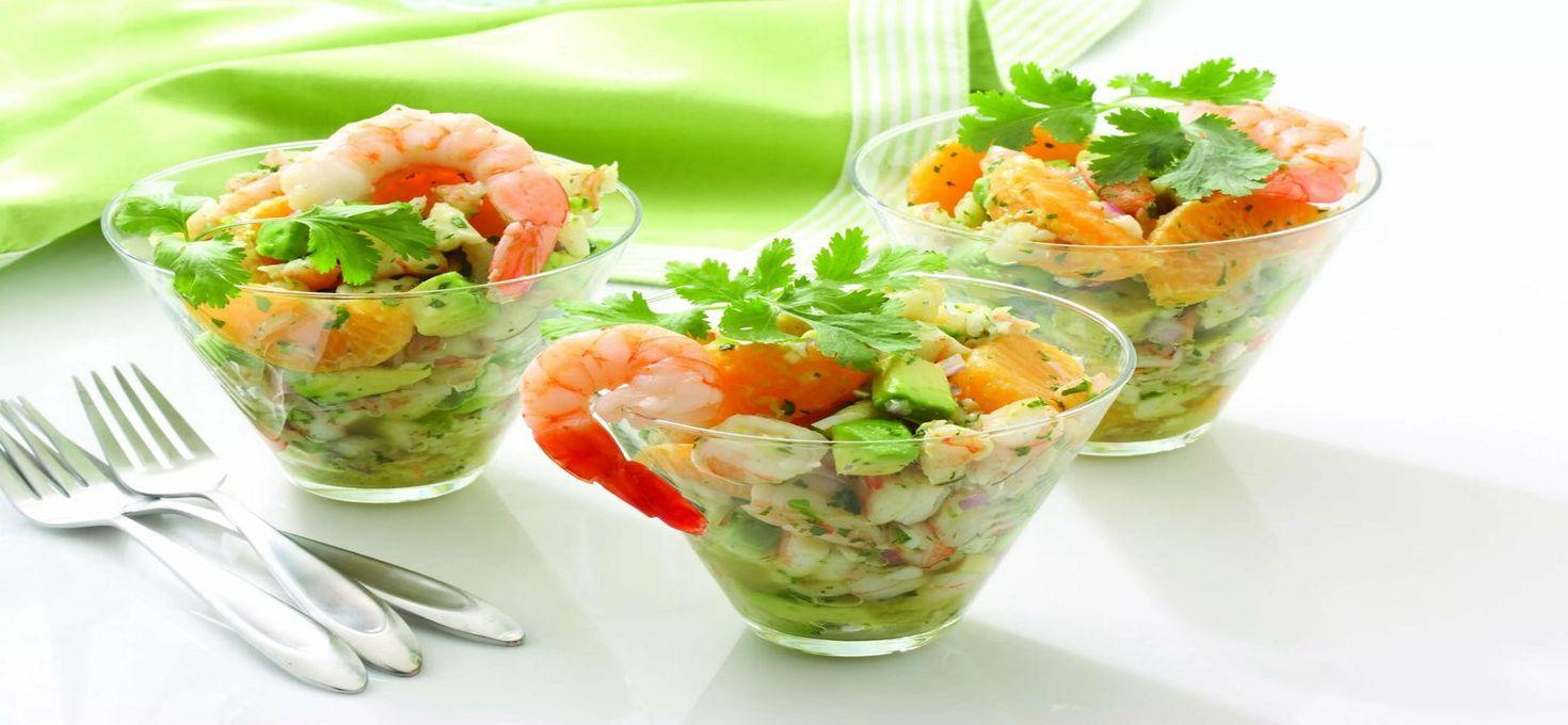Салат с креветками (коктейль) от Раймонда Паулса